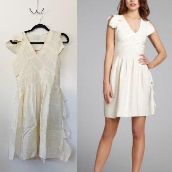 Cynthia Rowley Dresses & Skirts - Cynthia Rowley Grosgrain Ribbon dress Creme